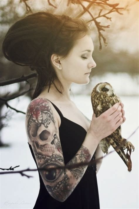 owl tattoo on woman s arm tattoos for women on arm