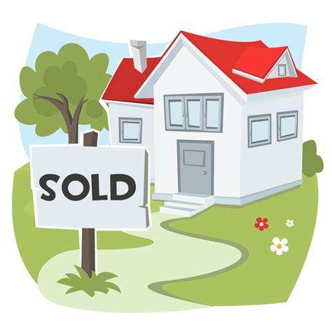 I Sold House by Sold Sign And House An Illustration Shows A Home That