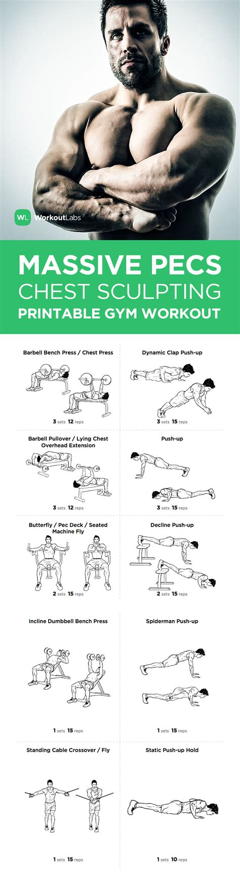 free home workout plans free pdf massive pecs chest sculpting workout for men