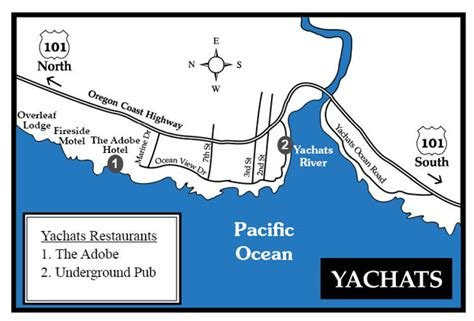 map of yachats oregon yachats map