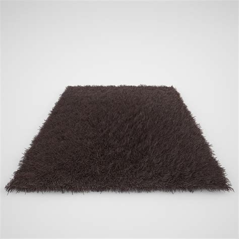 3d model rug realistic carpet rug fur 3d max