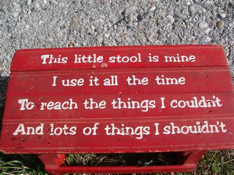 This Stool Is Mine by Vintage Childs Rustic Wooden Step Stool With Verse