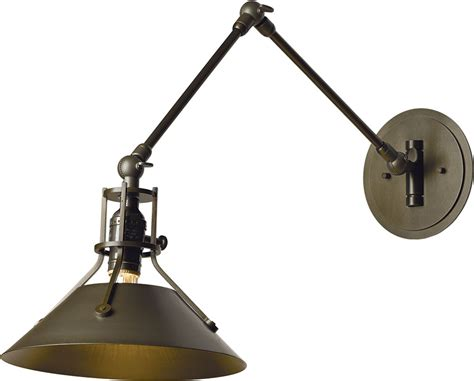 swing arm lights hubbardton forge 209320 henry wall swing arm l hub 209320