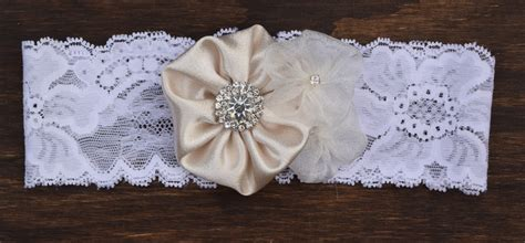 Handmade Garter - eym g004 handmade garter with three flower design
