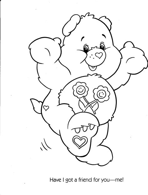free coloring pages of care bears drawings