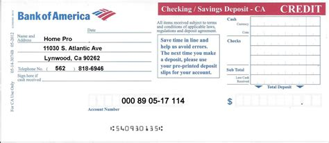 Bank Of America Employment Background Check Print Deposit Slip Bank Of America Autos Post