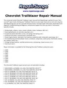 chevrolet trailblazer repair manual 2002 2009