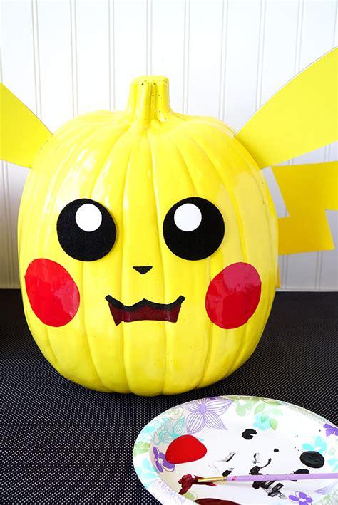 painted pumpkins pumpkins pikachu pokeball happiness is