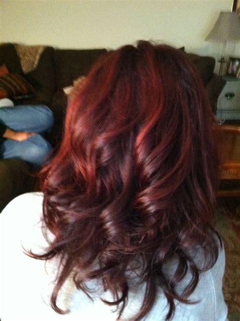 how to get cherry coke hair color curly cherry coke hair hair n nails pinterest