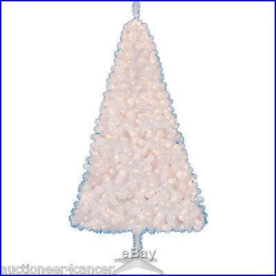holiday time pre lit 65 madison pine white artificial christmas tree clear lights pre lit 6 5 pine artificial tree white clear lights decor world