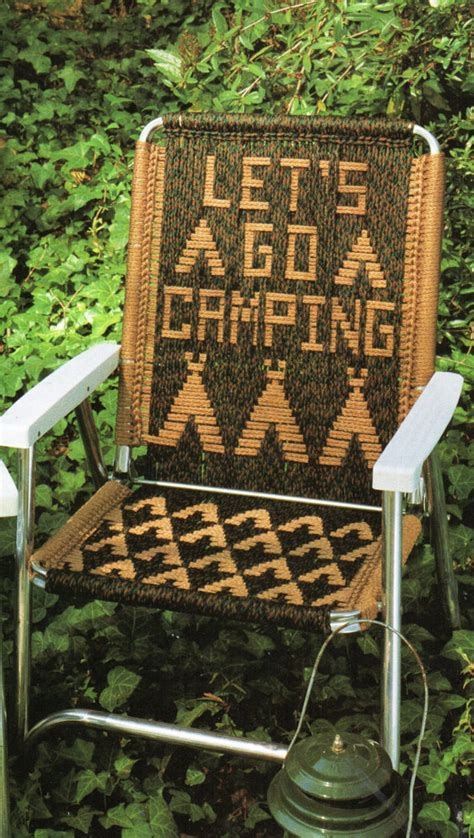 Macrame Lawn Chair by Lets Go Cing Macrame Lawn Chair Folding Chair Macrame