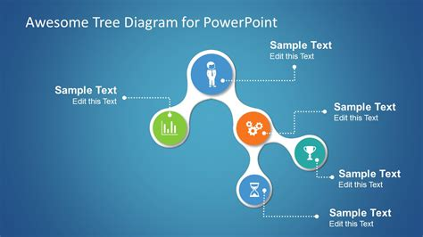 Awesome Tree Diagram Template For Powerpoint Slidemodel Awesome Powerpoint Templates Free