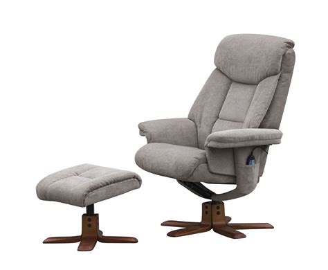 recliner chair uk littleham mink velour massage swivel chair and foot stool