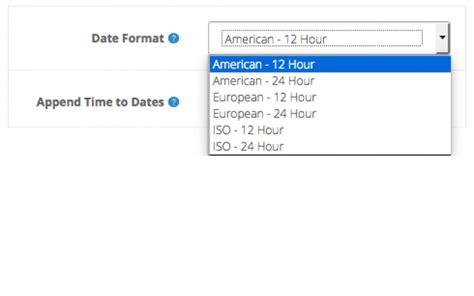 localised date format localised date format