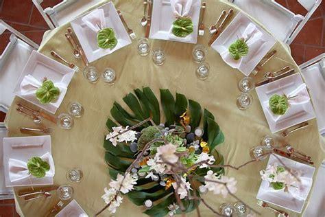 "North Shore, Oahu wedding ""green"" table setting   Weddings"