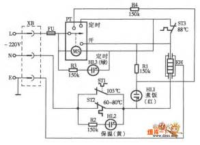 timer automatic electric rice cooker circuit diagram electrical equipment circuit circuit