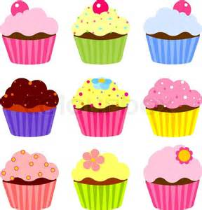 How To Decorate Birthday Party In Home illustration of various cute cupcakes stock vector