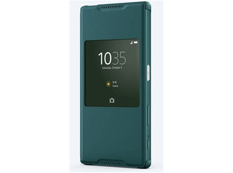 Sony Xperia Z5 Back Cover Cover Glass Belakang Green Awaliaparts meet sony s new style cover window cases for the xperia z5 family