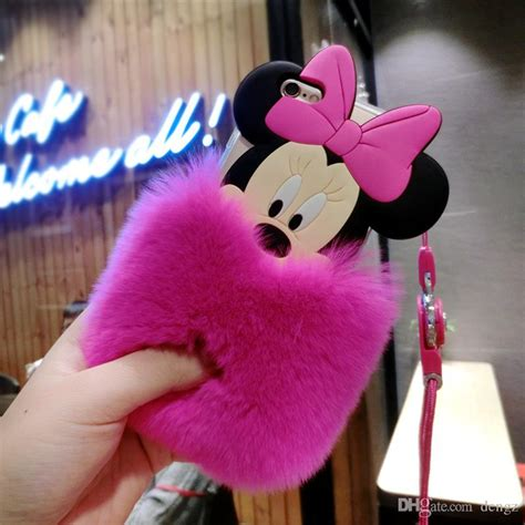 Mickey And Minnie Mouse Q0214 Iphone 7 Plus Casing Premium Hardcase lovely iphone6 6s 7 plus mickey minnie mouse ears fur cases iphone 6 7plus skin cover