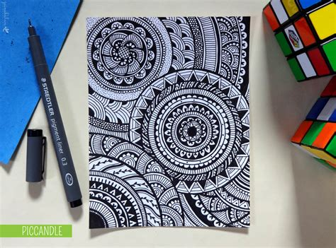 draw doodle decorate doodle circular pattern design by piccandle on deviantart