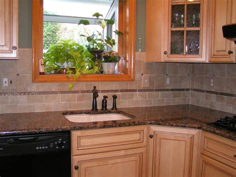 Kitchen Countertops And Backsplash Ideas by Baltic Brown Granite Amp Tile Backsplash
