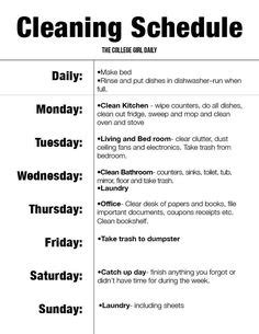 bedroom cleaning schedule 1000 ideas about college apartments on pinterest