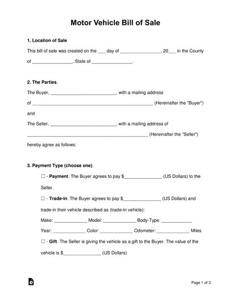 free massachusetts bill of sale forms pdf eforms free