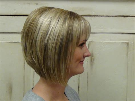 Best Aline Bob Haircuts Front And Back Views | concave bob shoulder length hairstyle front and back view