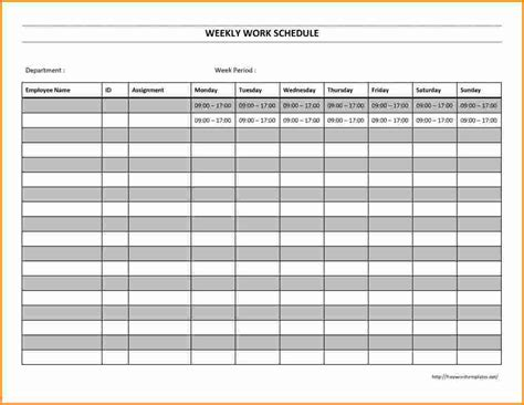 8 work schedule template authorization letter
