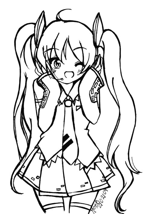 imagenes de hatsune miku kawaii para colorear miku hatsune para pintar imagui