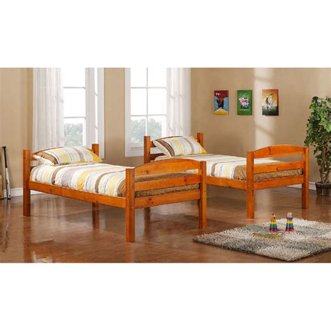 solid wood twin bed walker edison solid wood twin size bunk bed honey bwstothy