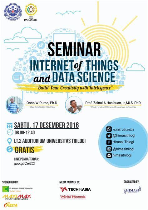 desain komunikasi visual universitas trilogi seminar internet of thing dan data science universitas