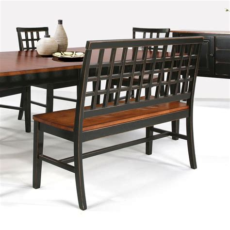 Dining Table Bench With Back Dining Table With Lattice Back Bench 4 Side Chairs By Intercon Wolf And Gardiner Wolf Furniture