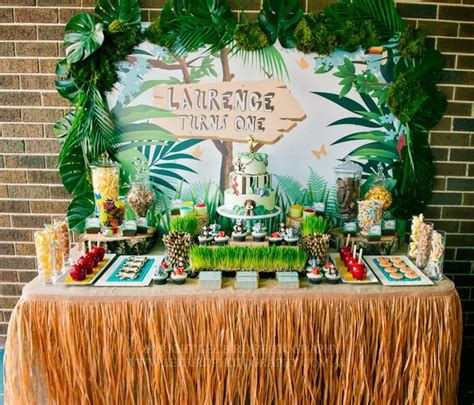 jungle book themed birthday party jungle party backdrop party backdrops skirts and jungle