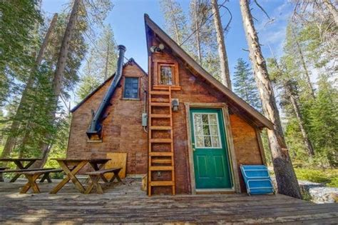 riverfront tiny cabin in california woods for sale