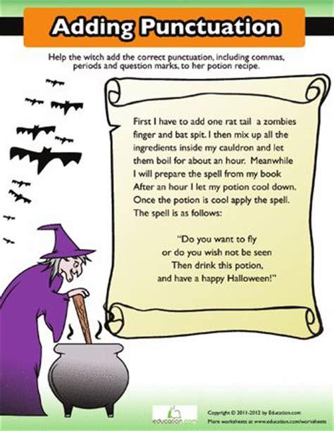 Adding Punctuation Worksheet by Adding Punctuation