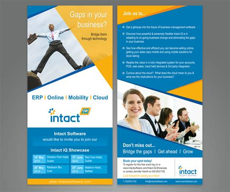 flyer design free software modern professional flyer design for intact software by