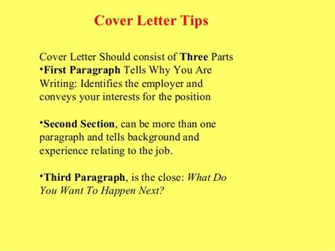 what a cover letter should consist of resume and cover letter tips that are sure to get you noticed