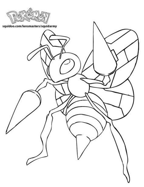 pokemon coloring pages mega beedrill beedrill pokemon coloring pages pinterest pokemon
