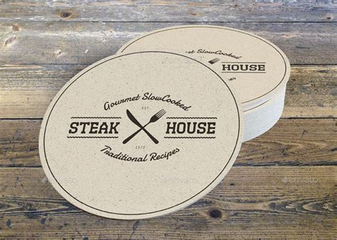 Drink Coaster drink coaster mock up vol 2 by sealord graphicriver
