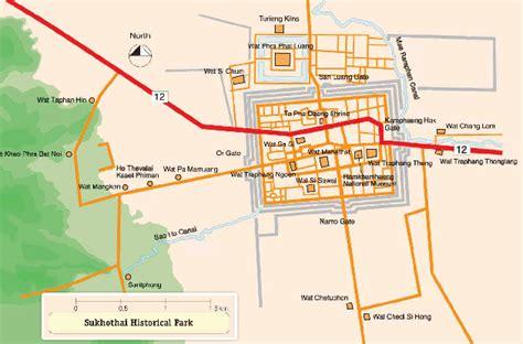 sukhothai historical park map sukhothai historical park