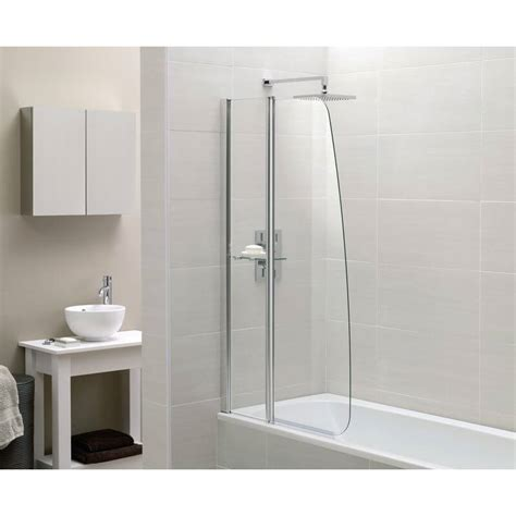 bath shower screens moods fixed panel sail bath shower screen 800mm x 1400mm rap9237
