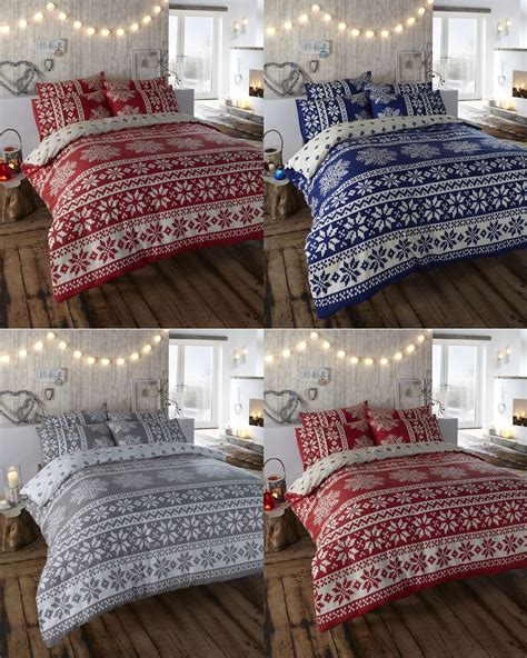 snowflake bedding retro nordic alpine snowflake 100 brushed cotton