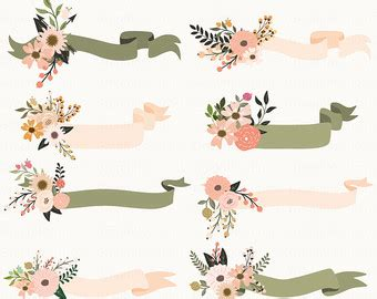 Wedding Ribbon Banner by Floral Clipart Ribbon Banner Pencil And In Color Floral
