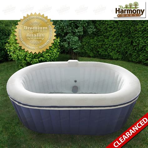 bathtub spa portable spa hot inflatable portable tub 4 person bubble oval quick new ebay