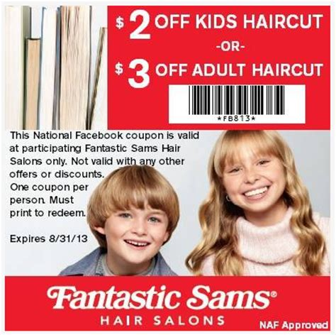 fantastic sams 2 00 off kids haircut printable coupon