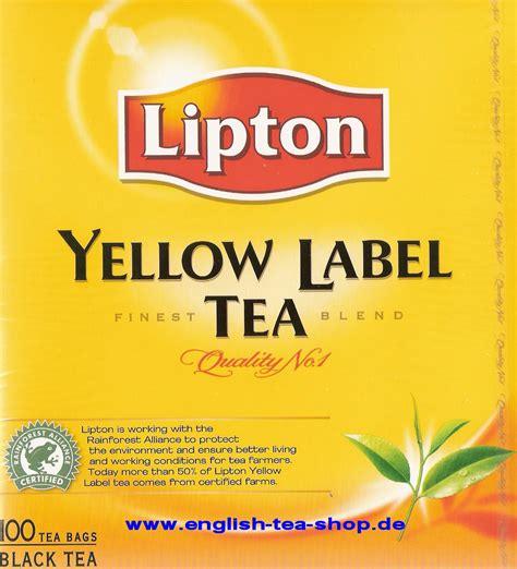 Teh Lipton Yellow Label Tea lipton yellow label tea 100 s tea bags 200g