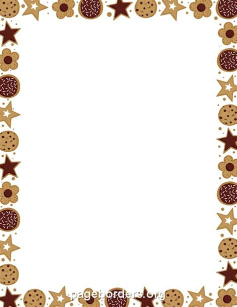 Hearts And Stars Kitchen Collection Printable Cookie Border Use The Border In Microsoft Word
