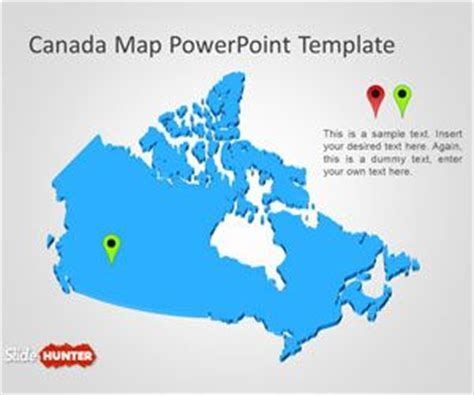 powerpoint map template free canada map powerpoint template