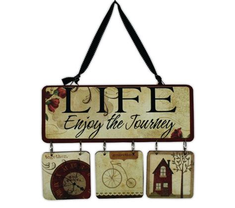enjoy the journey hanging plaque crafts direct